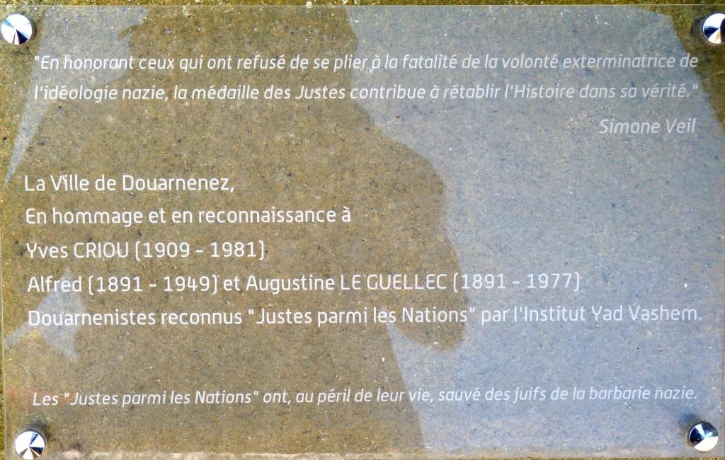 plaque justes Douarnenez Tréboul 353